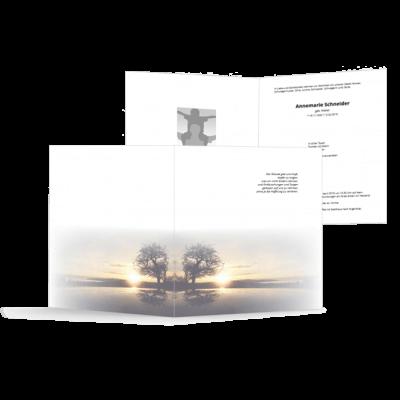 Trauerbrief Sonnenuntergang Baum