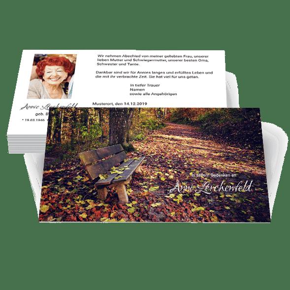 zweiseitige Trauerkarten