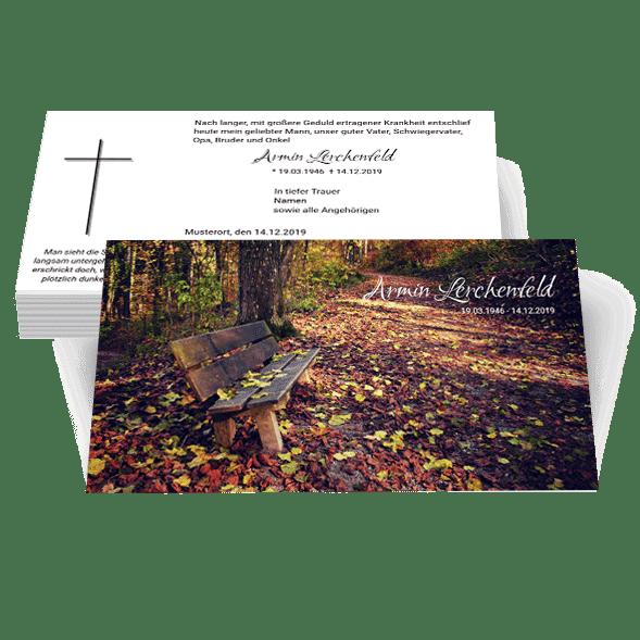 Trauerkarten zweiseitig Trauerdruck