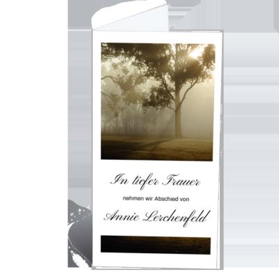Trauerkarte Klappkarte Trauerdruck Baum