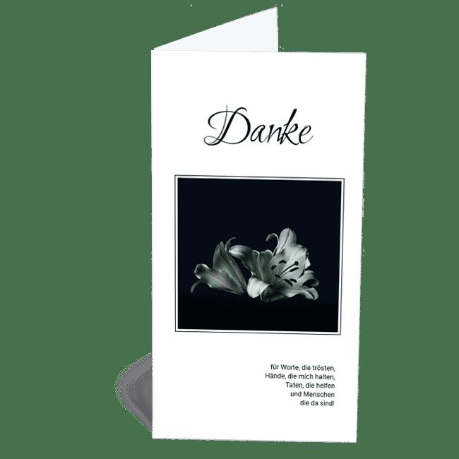 Trauerdanksagung Lilie Blume