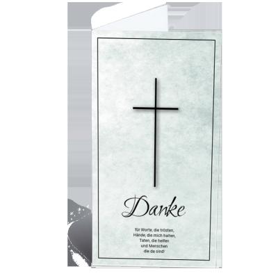 Trauerdanksagung traditionell Kreuz