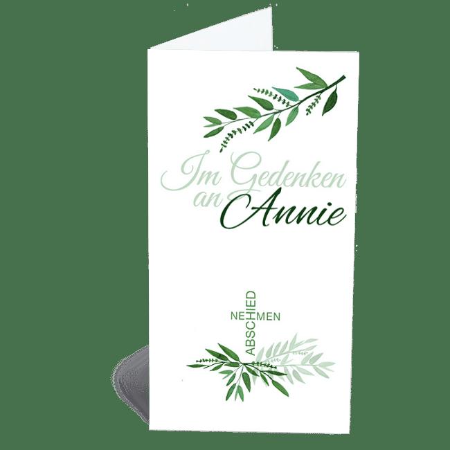 Trauerkarte grüne Zweige