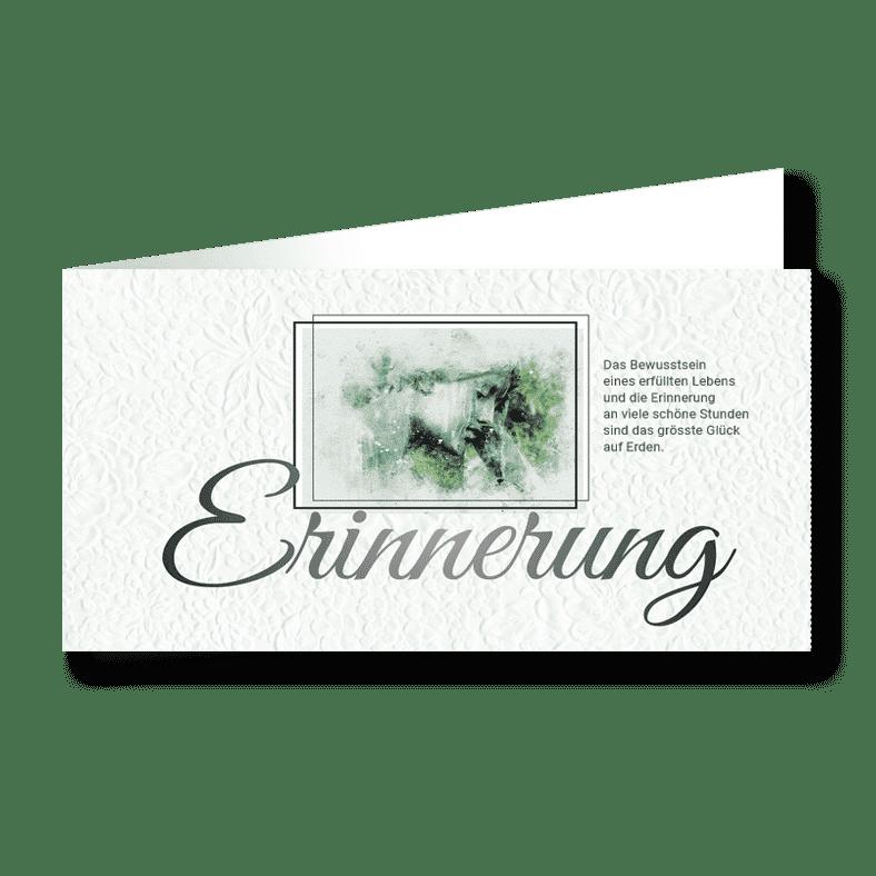 Trauerkarte Antlitz