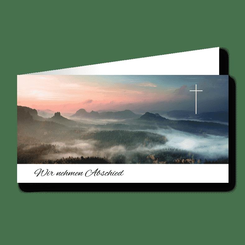Trauerkarten Danksagung Paradies