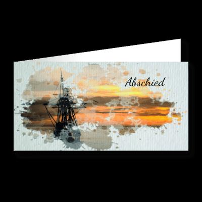 Trauerkarte Segelschiff