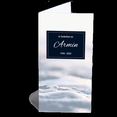 Trauerkarte Traum Wasser