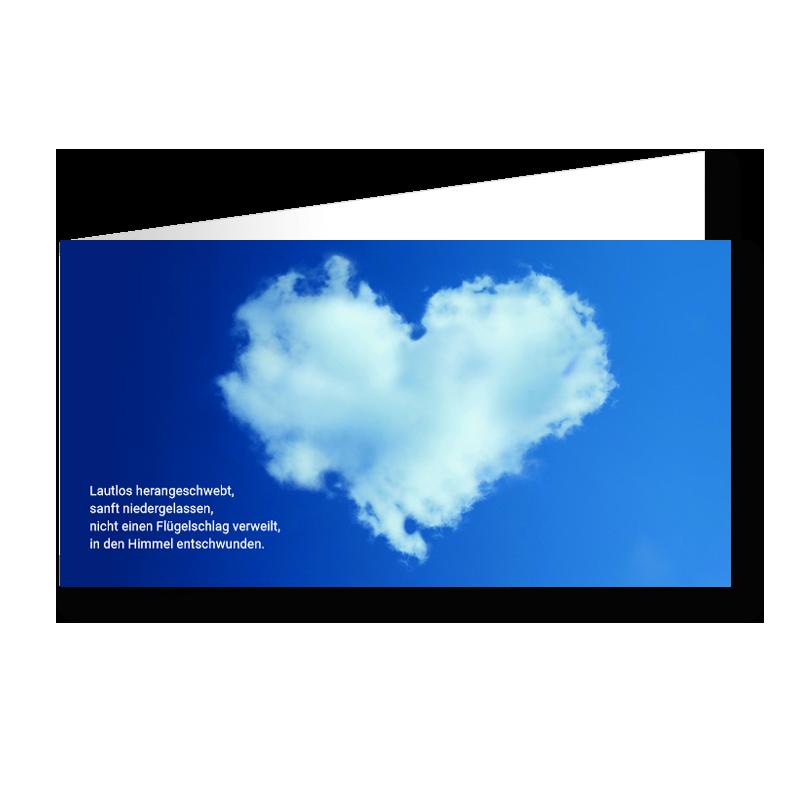 Trauerkarte Herzwolke