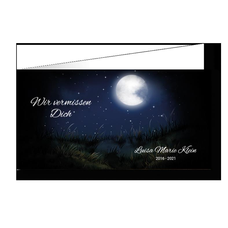 Trauerkarte Dunkelheit