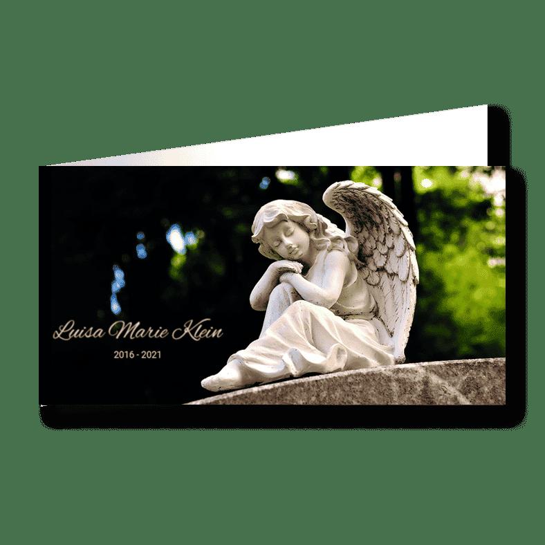 Trauerkarte Engel im Sommer