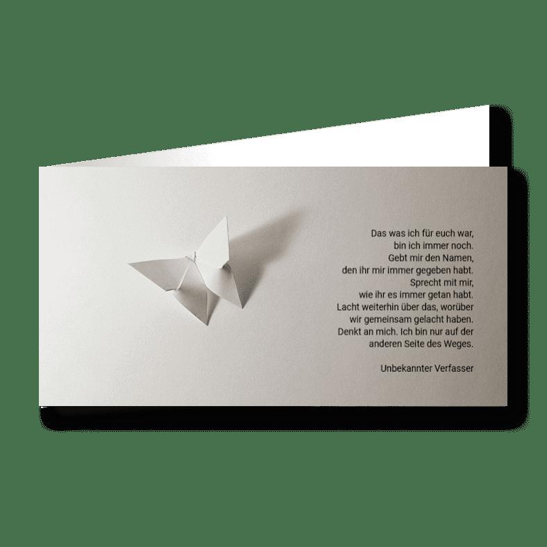 Trauerkarte Kind Falter 2