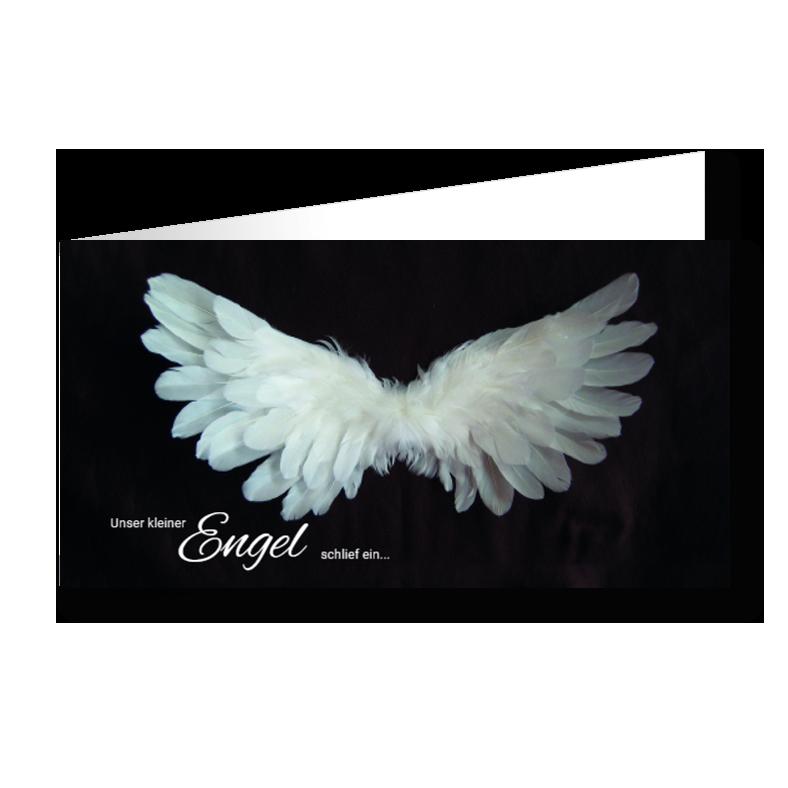 Trauerkarten Flügel Kind
