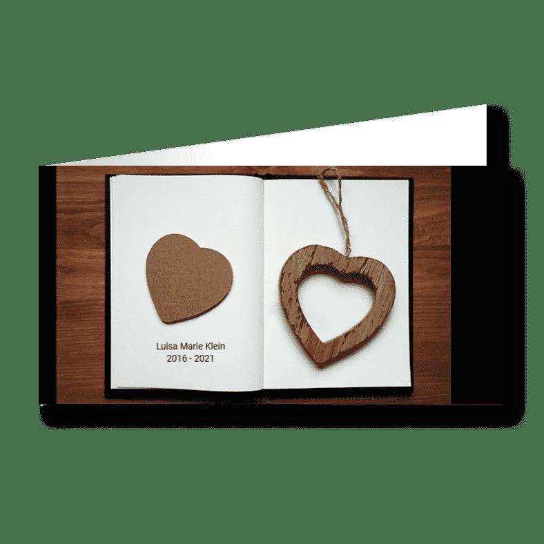 Trauerkarte Leeres Kapitel Buch