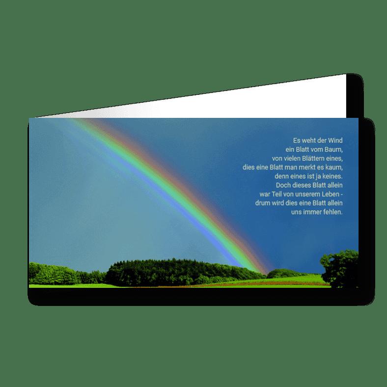 Trauerkarte Regenbogen
