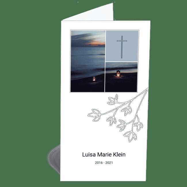 Kinder Trauerkarte Sonnenuntergang