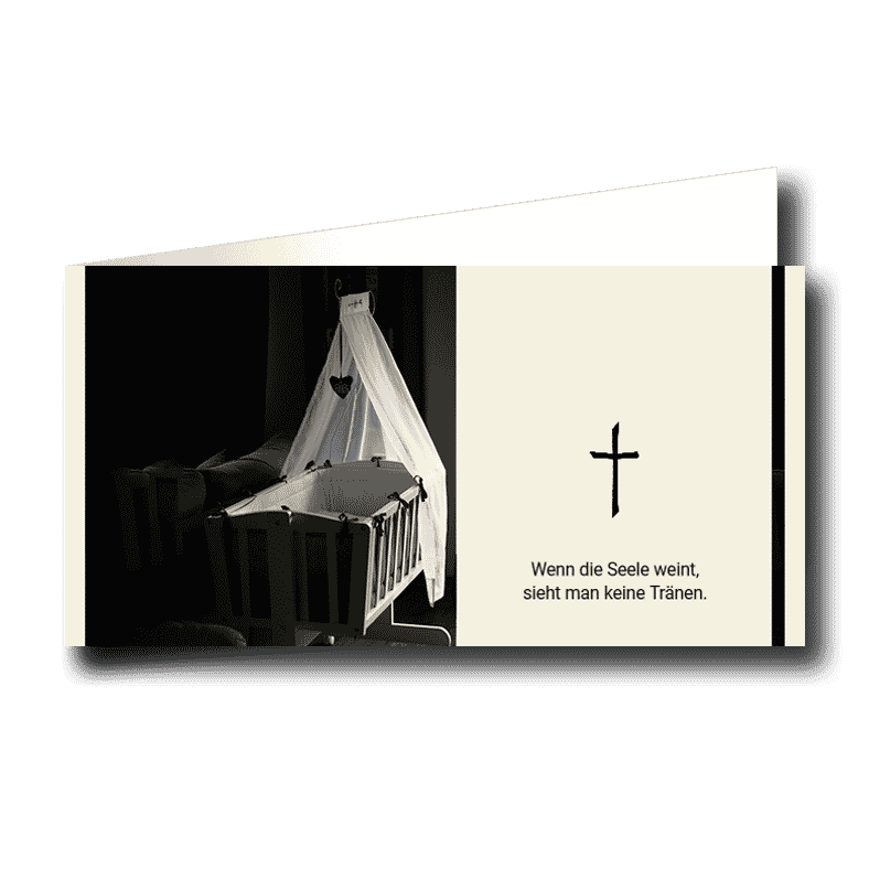 Trauerkarte Stille