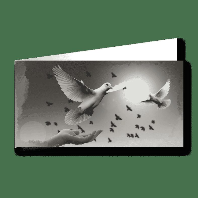 Trauerkarte Vogel