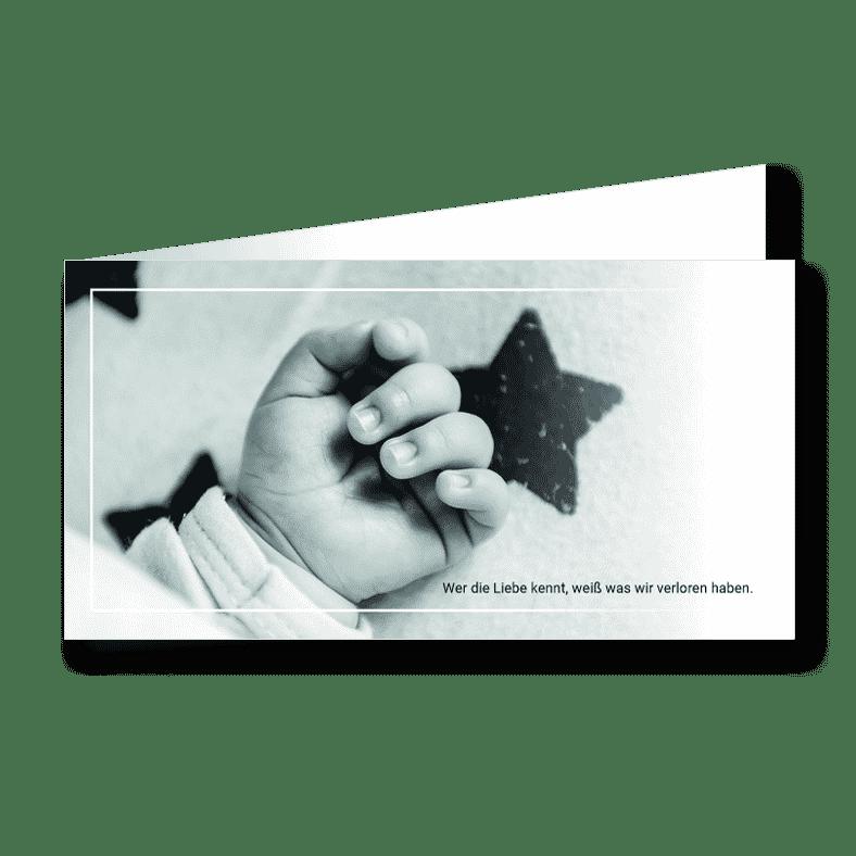 Trauerkarte Kinderhand