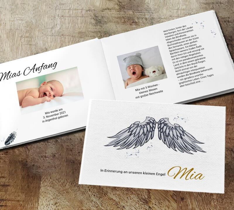 Kinder Gedenkbuch Engel
