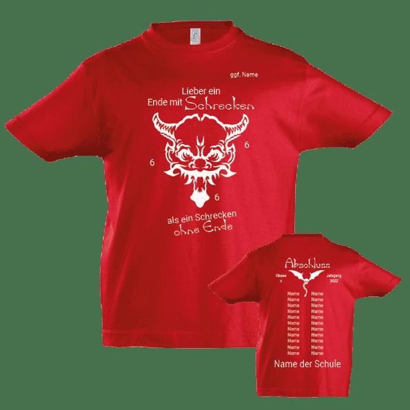 Abschluss T Shirt Schrecken 666
