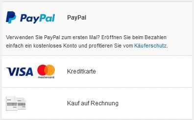 Zahlungsarten bei JÄGER kreativ!